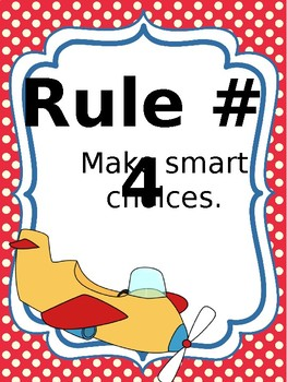 Classroom Rules & Attention Getters - Airplane - Editable