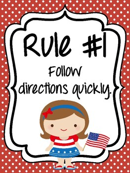 Classroom Rules & Attention Getters - American
