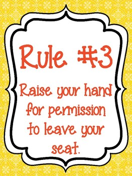 Classroom Rules & Attention Getters - Boho Birds
