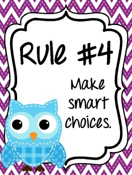 Classroom Rules & Attention Getters - Bright Owls
