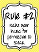 Classroom Rules & Attention Getters - Bright Polka Dot