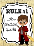Classroom Rules & Attention Getters - Harry Potter