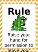 Classroom Rules & Attention Getters - Louisiana - Editable