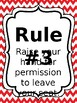 Classroom Rules & Attention Getters - Red Chevron - Editable