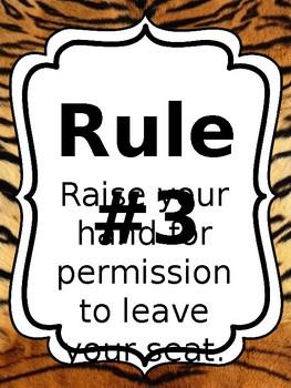 Classroom Rules & Attention Getters - Safari - Editable