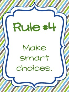 Classroom Rules & Attention Getters - Turtles