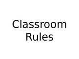 Classroom Rules *Autism Friendly*