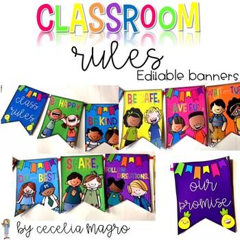 Classroom Rules Banner EDITABLE