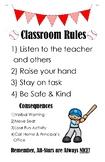 Classroom Rules Baseball Themed