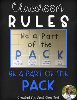 Classroom Rules: Be a Part of the Pack