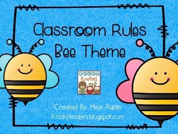 Classroom Rules-Bee Theme