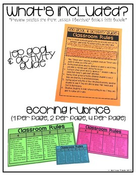 Classroom Rules- Behavior Basics Data Bundle