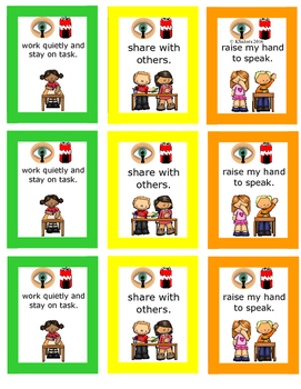 Classroom Rules/Behavior Chart/Classroom Management