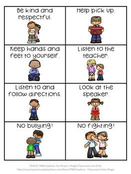 Classroom Rules Bingo!