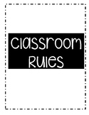 Classroom Rules Black & White