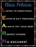 Classroom Rules (Black and Brights Theme)