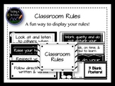 Classroom Rules - Black and White