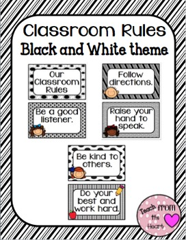 Classroom Rules (Black and White theme)