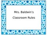 Classroom Rules Blue
