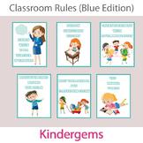Classroom Rules (Blue Edition) Instant Download PDF; Preschool, Kindergarten