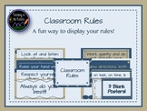 Classroom Rules - Blue and Tan