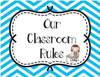 Classroom Rules - Blue and Yellow - Back to School