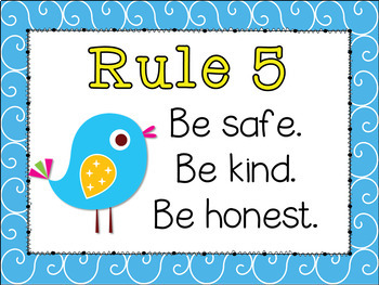 Classroom Rules {Boho Bird Theme} EDITABLE - Doodle Birdie