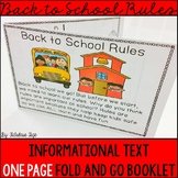 Classroom Rules Booklet: Back to School Activities