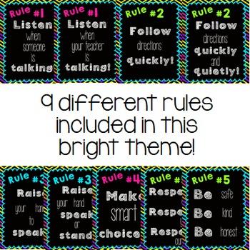 Classroom Rules {Bright & Bold}