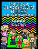 Classroom Rules - Bright Chevron - FREE