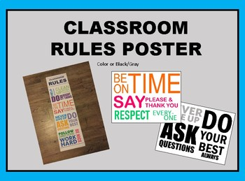 Classroom Rules (Brights and Black/Gray)