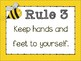 Classroom Rules {Bumble Bee Theme} Positive Behavior - Whole Brain