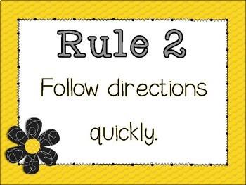 Classroom Rules Positive Behavior