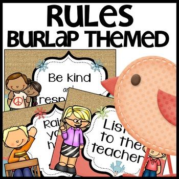 Classroom Rules (Burlap Themed)