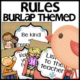 Classroom Rules (Burlap Themed)