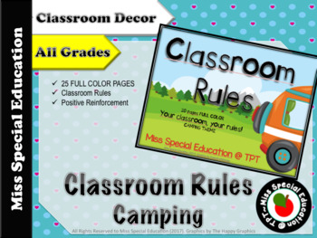 Classroom Rules - CAMPING THEME - 20 pages - FULL COLOR - FREEBIE