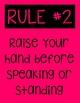 Classroom Rules COLORS