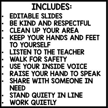 Classroom Rules |CONSTRUCTION Themed | BLACK AND YELLOW