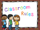 Classroom Rules Camping Theme (Chocolate Polka Dot)