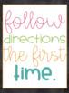 Classroom Rules Chalk Board Poster Set {Intermediate grades} 3rd, 4th, 5th, 6th