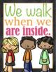 Classroom Rules Chalk Board Poster Set {Preschool and Primary grades} Editable