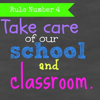 Classroom Rules: Chalkboard Subway Art