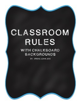 Classroom Rules - Chalkboard Theme