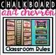 Classroom Rules Display {Chalkboard and Chevron Classroom Decor Theme}