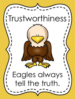 Classroom Rules, Character Pillars, Healthy Habits Poster Pack {Eagles Theme}