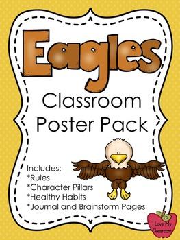 Classroom Rules, Character Pillars, Healthy Habits Poster