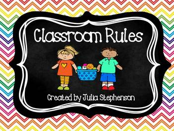 Classroom Rules-- Chevron