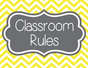 Classroom Rules, Chevron