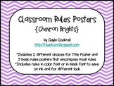 Classroom Rules: Chevron Brights