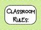 Classroom Rules: Chevron Brights